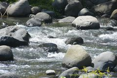 Ruparan riverbed lokalizować przy barangay Ruparan, Digos miasto, Davao Del Sura, Filipiny obrazy stock