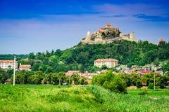 Rupea堡垒在特兰西瓦尼亚,罗马尼亚 免版税库存照片