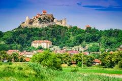 Rupea堡垒在特兰西瓦尼亚,罗马尼亚 免版税图库摄影