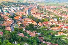 Rupea, λόφοι και ουρανός που βλέπουν άνωθεν, Ρουμανία στοκ φωτογραφία με δικαίωμα ελεύθερης χρήσης