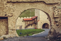 Rupea citadel fortified walls Royalty Free Stock Photo