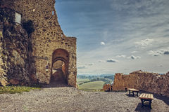 Rupea citadel fortified walls Royalty Free Stock Photography