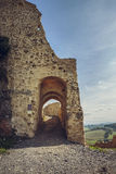 Rupea citadel fortified walls Royalty Free Stock Images