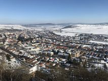 Rupea city, covered with snow Royalty Free Stock Photography