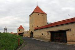 Rupea fästning (försvartorn) royaltyfri fotografi