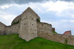 Rupea fästning i Transylvania, Rumänien Fotografering för Bildbyråer