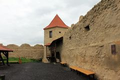 Rupea fästning (väggar) royaltyfri fotografi