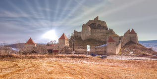 Rupea fortified church. Rupea (German Reps; Hungarian: Kőhalom, mound of rocks; Latin Ripa) is a town in Braşov County in Transylvania, Romania. It administers Stock Photos