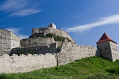 Rupea Fortress. (Brasov County, Transylvania, Romania). Mentioned in documents for the first time in 1324 AD stock photo