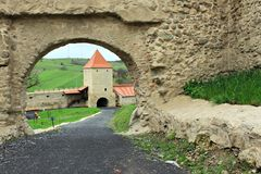 Rupea Fortress (gate and tower) Stock Photo