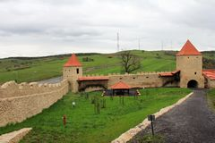 Rupea Fortress (interiour court) Stock Photos