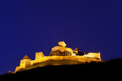 Rupea fortress in the night, Brasov county, Transylvania Royalty Free Stock Photography