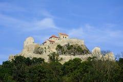 Rupea medeltida fästning, Rumänien Arkivbild