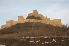 Rupea medeltida fästning, Transylvania Royaltyfria Bilder