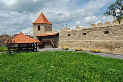 Rupea newly renovated medieval fortress in Transylvania, Romania Royalty Free Stock Images