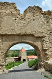 Rupea newly renovated medieval fortress in Transylvania, Romania Royalty Free Stock Photos