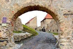 Rupea Reps, medeltida spår för fästning Transylvania Rumänien Arkivbild
