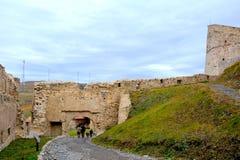 Rupea Reps, medeltida spår för fästning Transylvania Rumänien Arkivfoto