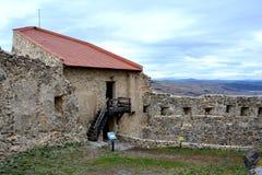 Rupea Repsfästning Medeltida spår Transylvania Rumänien Arkivfoto