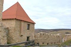 Rupea Repsfästning Medeltida spår Transylvania Rumänien Arkivbild
