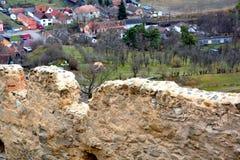 Rupea Repsfästning Medeltida spår Transylvania Rumänien Royaltyfri Fotografi