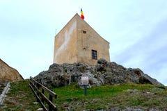 Rupea Repsfästning Medeltida spår Transylvania Rumänien Royaltyfria Foton
