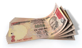Rupee Bank Notes Spread Royalty Free Stock Image