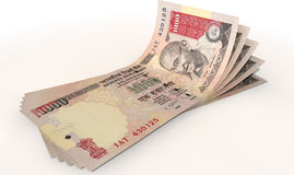 Rupee Bank Notes Spread Stock Images