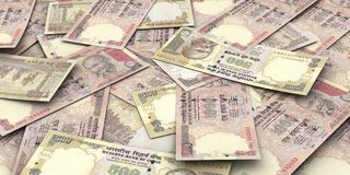Rupee bills Stock Image