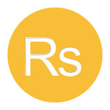 Rupee currency symbol icon Stock Photography