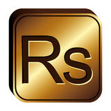 Rupee currency symbol icon Stock Photo
