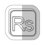 Rupee currency symbol icon Royalty Free Stock Image