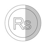 Rupee currency symbol icon Royalty Free Stock Photo