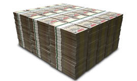 Rupee Notes Pile Stock Image