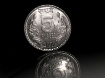 5 RUPEES INDIAN COINS. 5Rupees coin of 2000 Stock Photo
