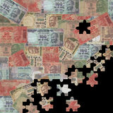 Rupees jigsaw background Royalty Free Stock Photos
