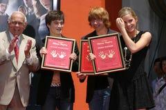 Rupert Grint,Daniel Radcliffe,Emma Watson,Johnny Grant,Daniel Radcliff Stock Images