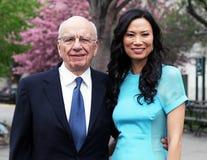 Rupert Murdoch y Wendi Deng Murdoch Foto de archivo libre de regalías