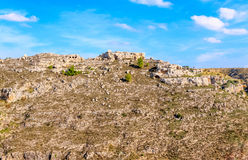 Rupestrian church, historic building. Sassi of Matera. Basilicata under blue sky Stock Photography