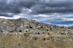 Rupestrian church. Sassi of Matera. Basilicata. Royalty Free Stock Photos