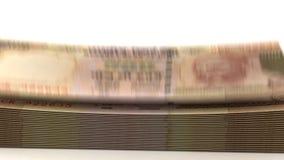 Rupia da queda do dinheiro Imagens de Stock