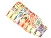 Rupia dinero en circulación-India internacional Imágenes de archivo libres de regalías