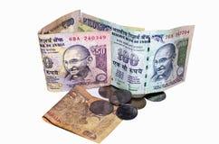 Rupia india del dinero Imágenes de archivo libres de regalías