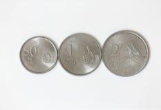 Rupia indiana das moedas Foto de Stock Royalty Free