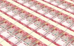 A rupia indonésia fatura o fundo das pilhas Fotografia de Stock