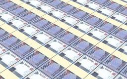 A rupia indonésia fatura o fundo das pilhas Fotografia de Stock Royalty Free