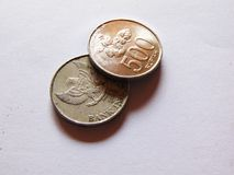A Rupiah Coins. Indonesian rupiah coins worth 500 rupiahs Stock Photography