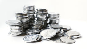 Rupiah coins on white background. With shadow Stock Images