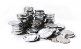 Rupiah coins on white background. With shadow Royalty Free Stock Images