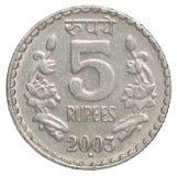 Rupias indianas da moeda Fotografia de Stock Royalty Free